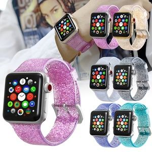 Bling Silicone Strap For Apple Watch Band 38/42mm